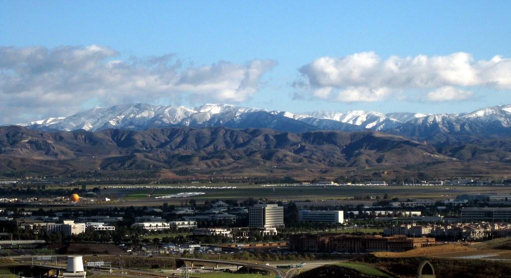 Santa Ana Mountains Snow from Irvine