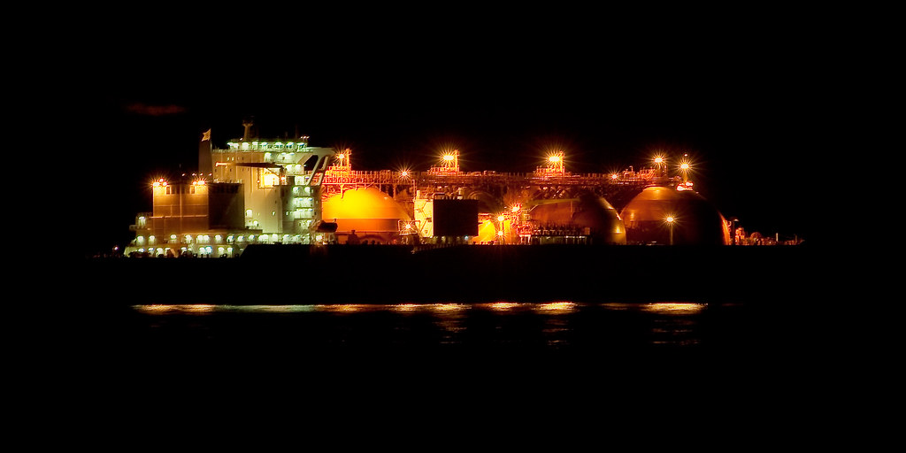Tanker by Night