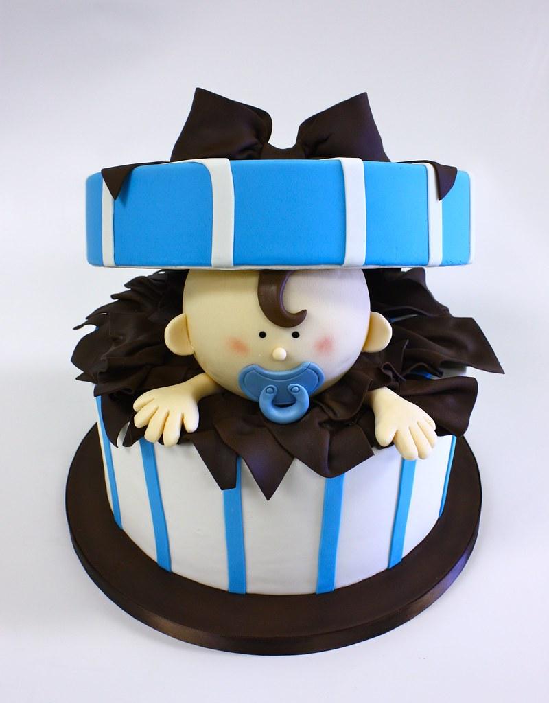 Торт на первый день рождения мальчику без мастики 76