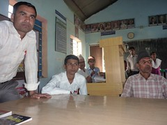 Speaker during interaction program at Ranapal School, Dangihat