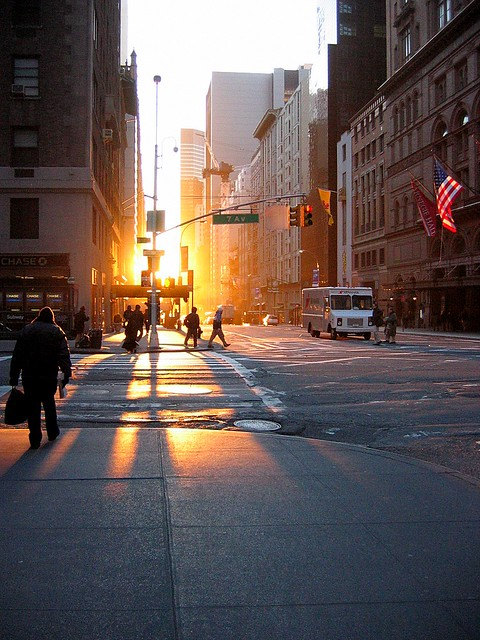 Early Morning Sunrise in New York City