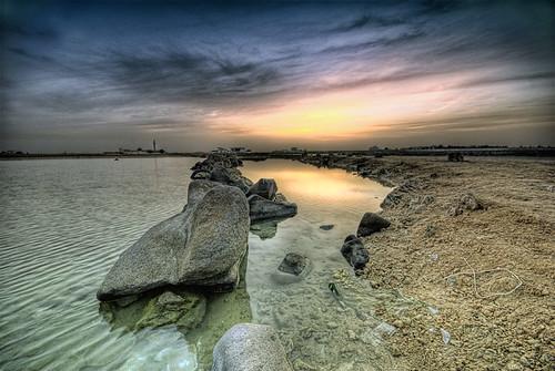 morning sea sky seascape rock clouds sunrise reflections landscape photography sand cloudy jeddah saudiarabia khaled hdr waterscape ksa 3xp sigma1020 mywinners nikond80