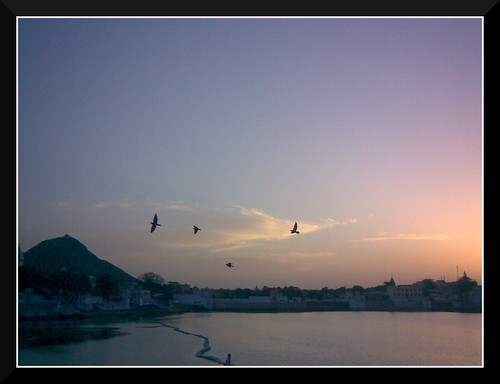 Pushkar - Sunset at Jaipur Ghat