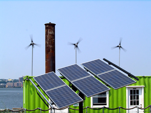 solar panels vs. wind turbines