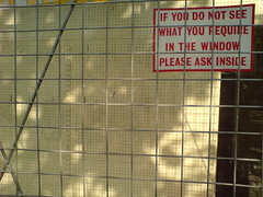 If you do not see what you require in the window..