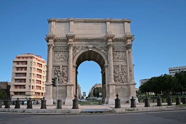 Arc de triomphe marseille france porte d 39 aix 09 08 for Porte 4 marseille