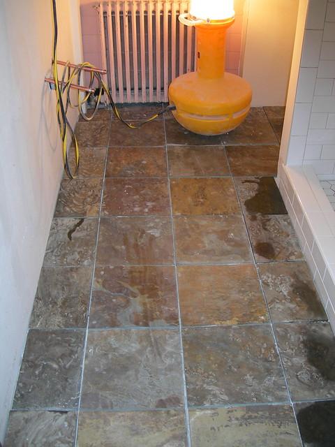 BATHROOM SLATE TILE FLOORING Flickr Photo Sharing