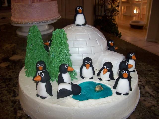 Penguin Pals Birthday Cake Flickr Photo Sharing