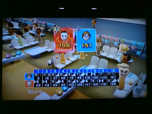 Wii bowling night fever