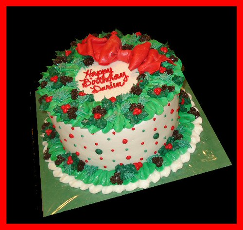 Christmas birthday cake for Darien Flickr - Photo Sharing!