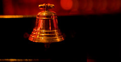 red, light, bell, darkness,