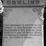 Dick Dowling Statue, Hermann Park, Houston, Texas 0429101144BW