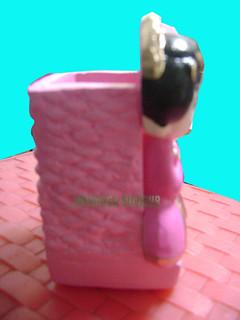 souvenir gypsum tempat pensil pengantin jawa samping