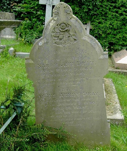 the gravestone of sarah dray and olive ashby dray flickr photo sharing. Black Bedroom Furniture Sets. Home Design Ideas