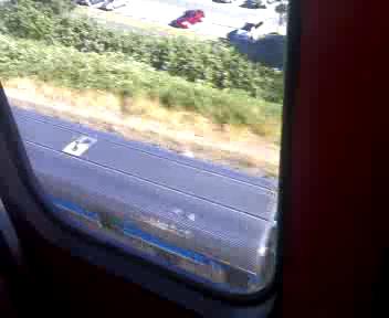 SkyTrain catches up to a Via Rail train