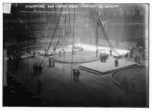 Preparing for Circus Week - Madison Sq. Garden  (LOC)