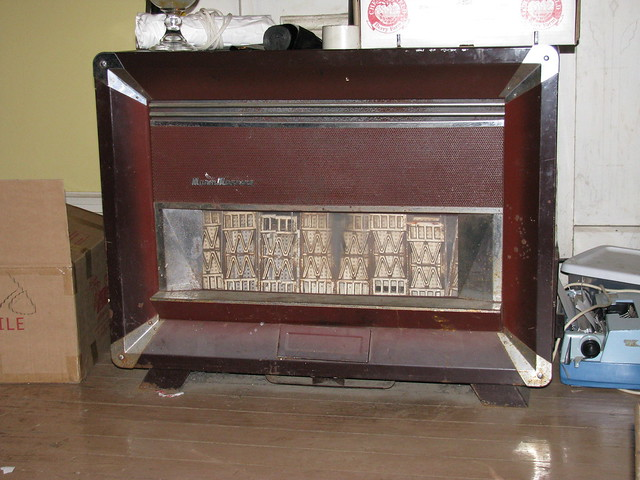 Vintage living room gas heater flickr photo sharing for Living room heater