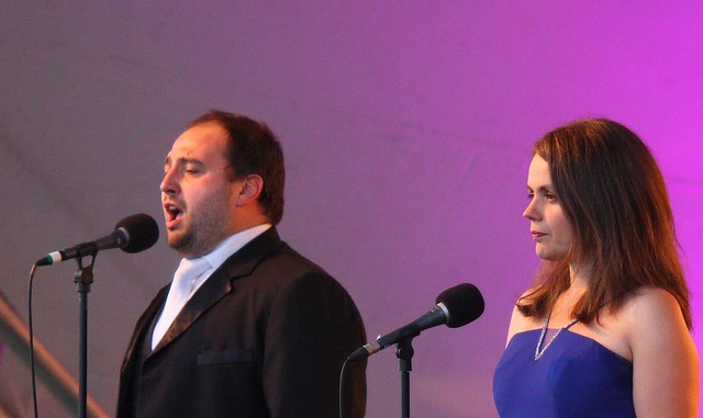 Wynne Evans, tenor, & Deborah Norman, soprano, singing with the Royal Philharmonic
