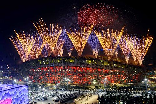 August 24th, 2008 - The 'Bird's Nest' lights up at the Closing Ceremonies of the Olympic Games in Beijing