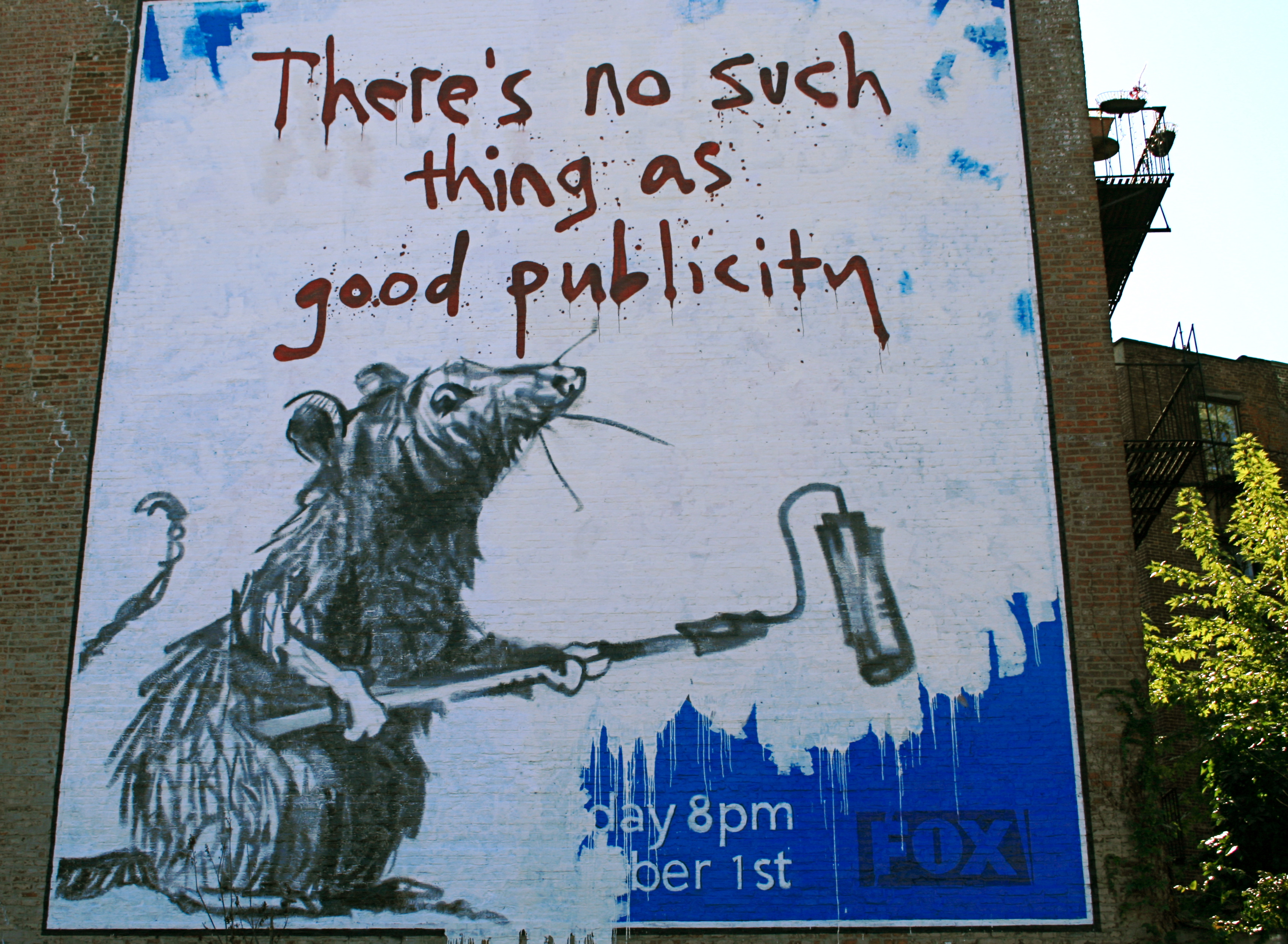 Banksy rat mural in soho new york there 39 s no such thing for Banksy rat mural