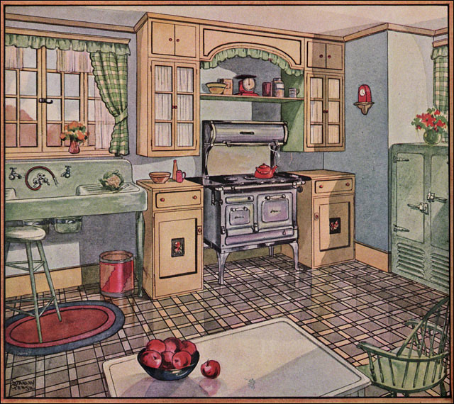 1920 39 s 1930 39 s kitchens a gallery on flickr for Modern kitchen in 1930s house