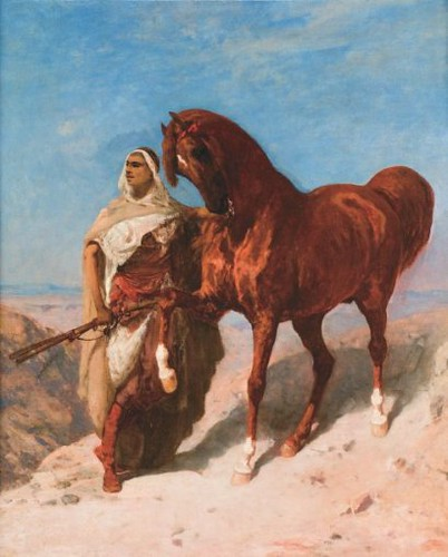 Paul Delamain: Guerrier Arabe et son cheval