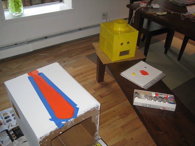 Halloween 2008 - Getting my paint on. from Flickr via Wylio