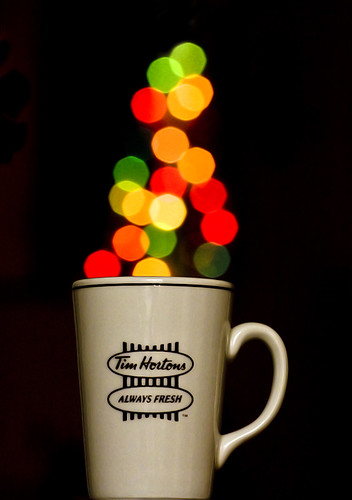 cup of coffee with christmas cheer