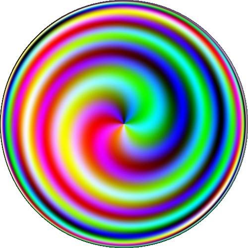 Coloured spiral