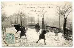 Snowball Fighting In Paris (1905)