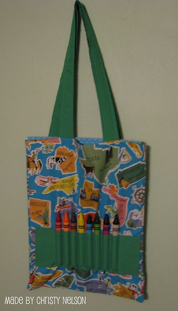 Coloring Book And Crayon Tote Bag Tutorial Flickr