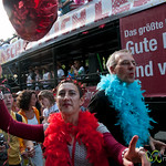 Dancing Crowds at Christopher Street Day Parade - Berlin, Germany
