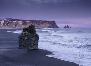 'Blue Hour, Black Beach, Pink Surprise' - Dyrholaey, Iceland