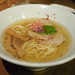 "Tori Ramen - ""Chintan"" clear chicken, fish and pork noodle soup topped with pork loin chashu, menma, kaiware radish, shiso leaf and daikon radish by luyaozers"