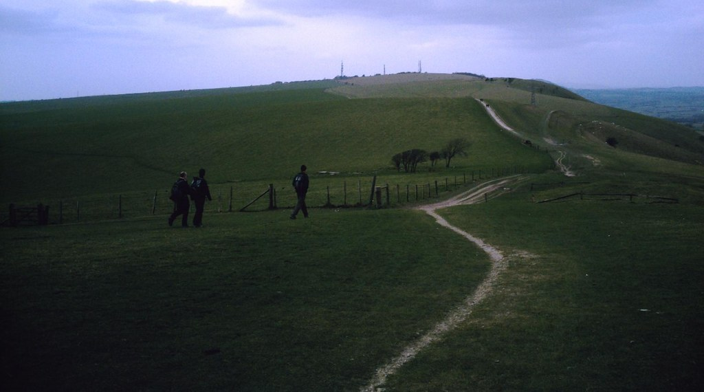 Hassocks to UpperBeeding Off-piste on the South Downs. D.Allen Vivitar 5199mp