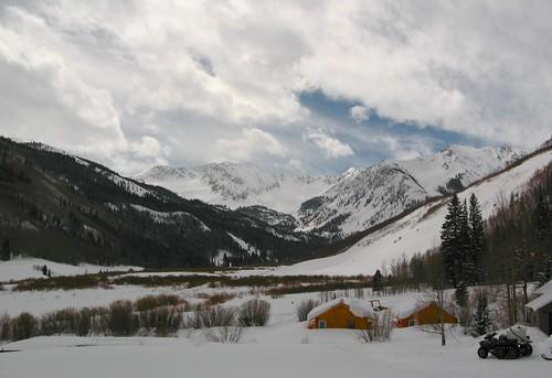 trees sky snow landscape colorado ashcroft mounains