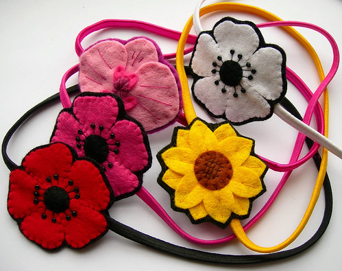 Floral Hairbands (Crafting 365 day 260)