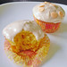 double ginger carrot cupcake w/cinnamon cream cheese frosting