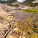 Small photo of Joseph's Coat Hot Springs flowing into Broad Creek