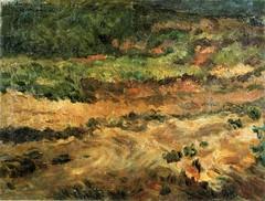 岸田劉生「日に蒸されたる赤土と草」(1913)
