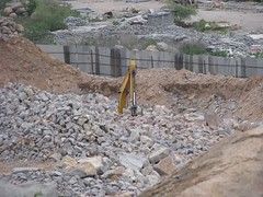 wall, soil, rubble, geology, foundation, construction, quarry,