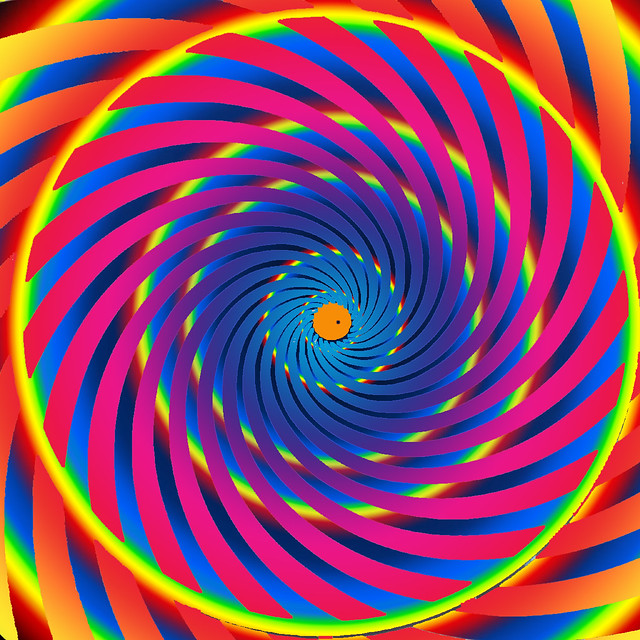 Hypnotic whirlepool spiral