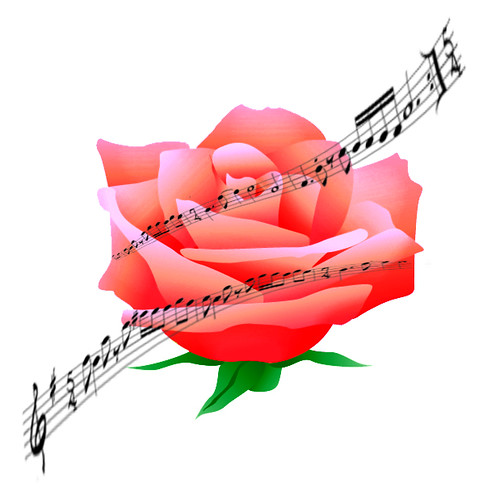 Rose & Music Notes