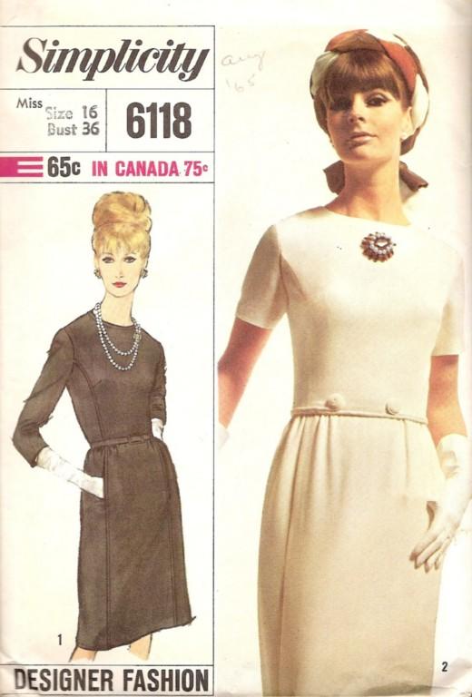 Vintage sewing pattern: designer 1960s dress - a photo on Flickriver