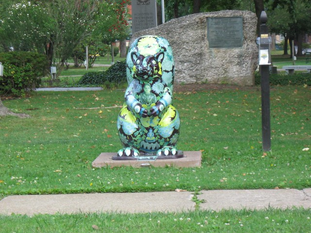 squirrel statue in olean  ny
