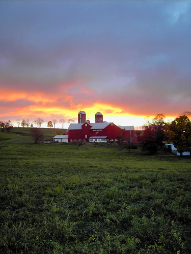 morning sunrise dawn cloudy farm brookviewfarm projectweathersubmission