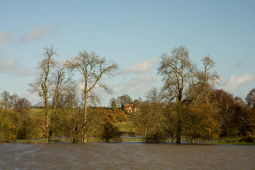 the flooded River Medway