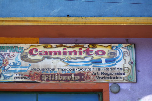 Colourful Caminito Sign
