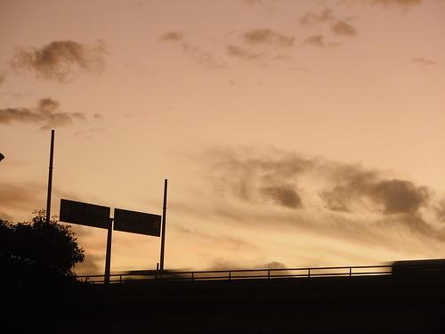 street bridge sunset clouds puente atardecer calle nubes elsalvador sansalvador neoslv
