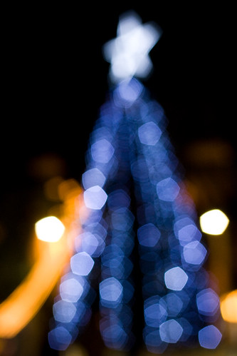 christmas xmas tree lights bokeh outoffocus greece crete canonef35mmf2 heraklion 250v10f canoneos400d gettyholidays2010